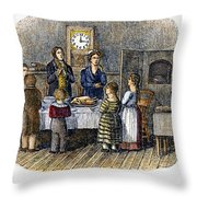 Thanksgiving, 1853 Throw Pillow