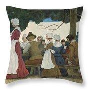 Thanksgiving Banquet Throw Pillow