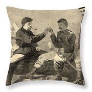 Thanksgiving Day In The Army Throw Pillow
