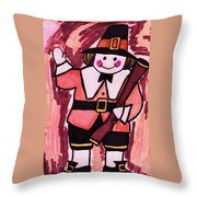 Thanksgiving Day Pilgrim Throw Pillow