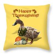 Thanksgiving Indian Duck Throw Pillow