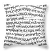 Thanksgiving Proclamation Throw Pillow by Granger