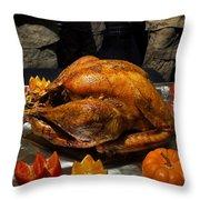 Thanksgiving Turkey For Us Military Servicemen Throw Pillow