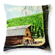 That Barn From That Movie Throw Pillow