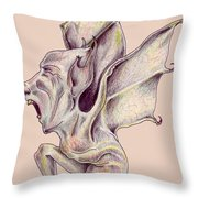 That Bat Man Rat Throw Pillow