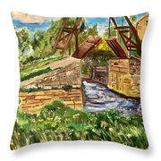 The Langloise Bridge Throw Pillow