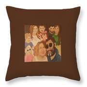That Crazy Family Throw Pillow