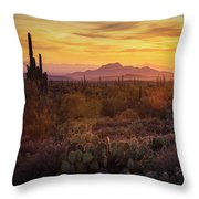 That Golden Light  Throw Pillow