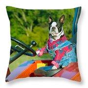 That Is One Hard Workin' Farm Dog Throw Pillow