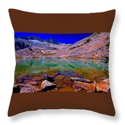 That Is The Glacier Up There Throw Pillow