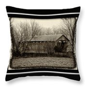 That Old Covered Bridge Throw Pillow