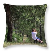 That Ole' Rope Swing Throw Pillow