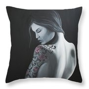 That Tattoo Girl Throw Pillow
