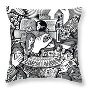 That We Die Is What Living Means Throw Pillow