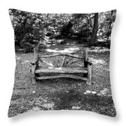 That Weird Bench One Throw Pillow by Robbie Masso