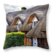 Thatched Cottages In Chawton 2 Throw Pillow