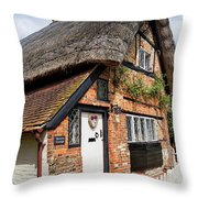 Thatched Cottages In Chawton 4 Throw Pillow
