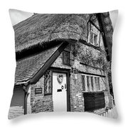 Thatched Cottages In Chawton 5 Throw Pillow
