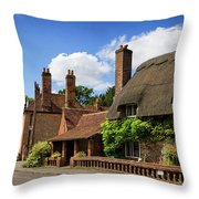 Thatched Cottages In Chawton 6 Throw Pillow