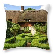 Thatched Cottages In Chawton 7 Throw Pillow