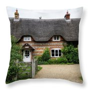 Thatched Cottages Of Hampshire 11 Throw Pillow