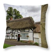 Thatched Cottages Of Hampshire 12 Throw Pillow