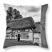 Thatched Cottages Of Hampshire 13 Throw Pillow