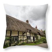 Thatched Cottages Of Hampshire 14 Throw Pillow
