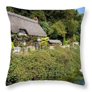 Thatched Cottages Of Hampshire 16 Throw Pillow