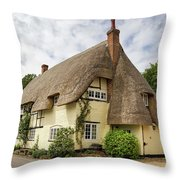 Thatched Cottages Of Hampshire 18 Throw Pillow