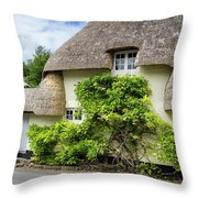 Thatched Cottages Of Hampshire 19 Throw Pillow