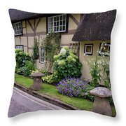 Thatched Cottages Of Hampshire 24 Throw Pillow