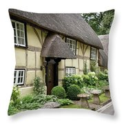 Thatched Cottages Of Hampshire 25 Throw Pillow