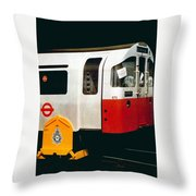 That'll Be The Day - Locomotive - London Underground - Retro Travel Poster - Vintage Poster Throw Pillow