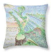 The 18th Hole Throw Pillow