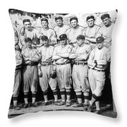The 1911 New York Giants Baseball Team Throw Pillow