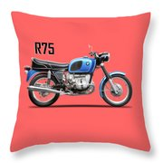 The 1972 R75 Throw Pillow
