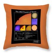 The 2012 Transit Of Venus Throw Pillow