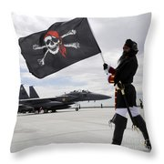 The 428th Fighter Squadron Buccaneer Throw Pillow