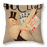 The 48 Club Throw Pillow by Cinema Photography