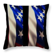 The Fourth At The Speedway Throw Pillow