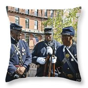 The 54th Regiment Bos2015_185 Throw Pillow