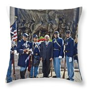 The 54th Regiment Bos2015_191 Throw Pillow