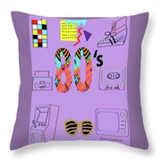 The 80's Throw Pillow