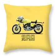 The 900 Super Sport 1977 Throw Pillow by Mark Rogan