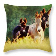 The A Family Throw Pillow