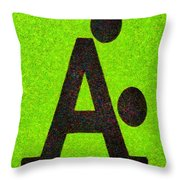 The A With Style Lime - Pa Throw Pillow