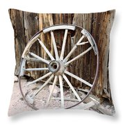 The Abandoned Wheel  Throw Pillow