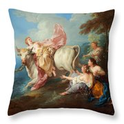 The Abduction Of Europa Throw Pillow