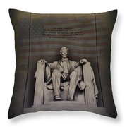 The Abraham Lincoln Memorial Throw Pillow